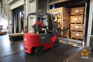 Recepcón de mercancías en nuestros centros de operación